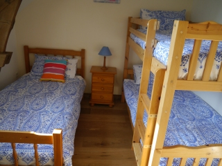 Bedroom 4 1 single bed and bunk beds
